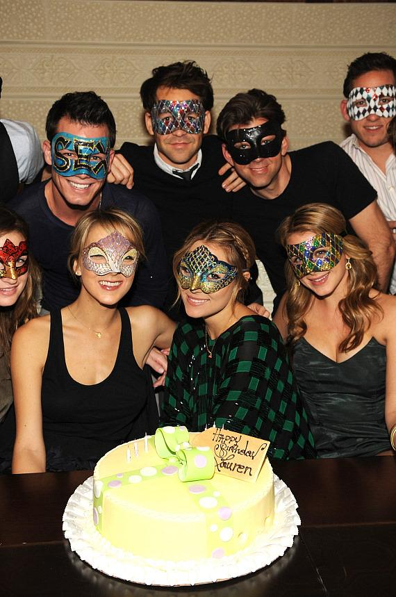 Lauren Conrad and masked friends at LAVO (Photo credit: Denise Truscello)