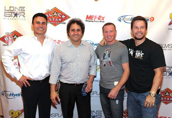 Phil Maloof, George Maloof, Micky Ward and Mark Wahlberg