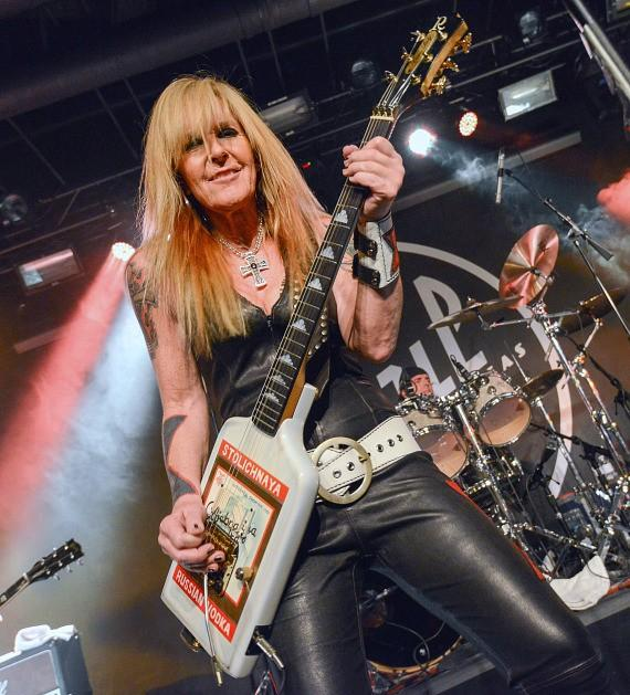 Lita Ford performs at Vinyl in Hard Rock Hotel Las Vegas