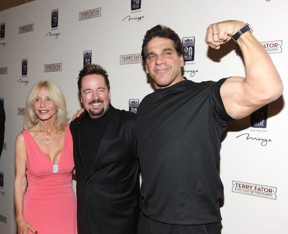 Lou's wife Carla, Terry Fator and Lou Ferrigno