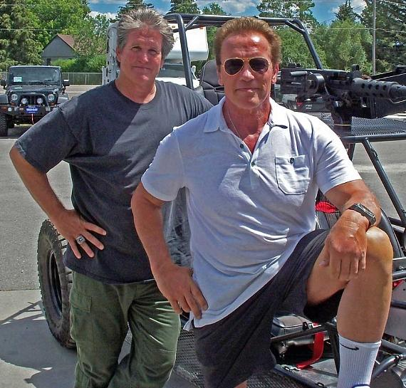 Billy Lucas and Arnold Schwarzenegger