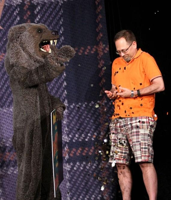 Kevin Pogoda was the two-millionth person to attend The Mac King Comedy Magic Show at Harrah's Las Vegas