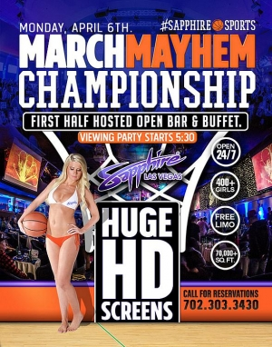 Sapphire Hosts Wisconsin vs. Duke March Mayhem Championship Viewing Party Monday April 6