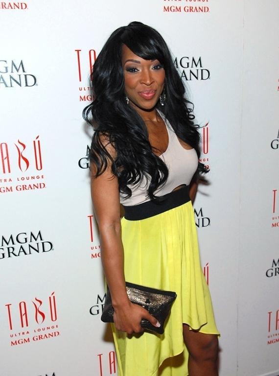 Malika Haqq on the red carpet at Tabú Ultra Lounge