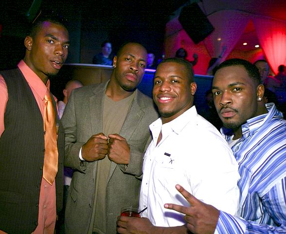 Micah Rucker, Dennis Dixon, Jonathan Stewart and friend (Photo courtesy of PURE Nightclub)