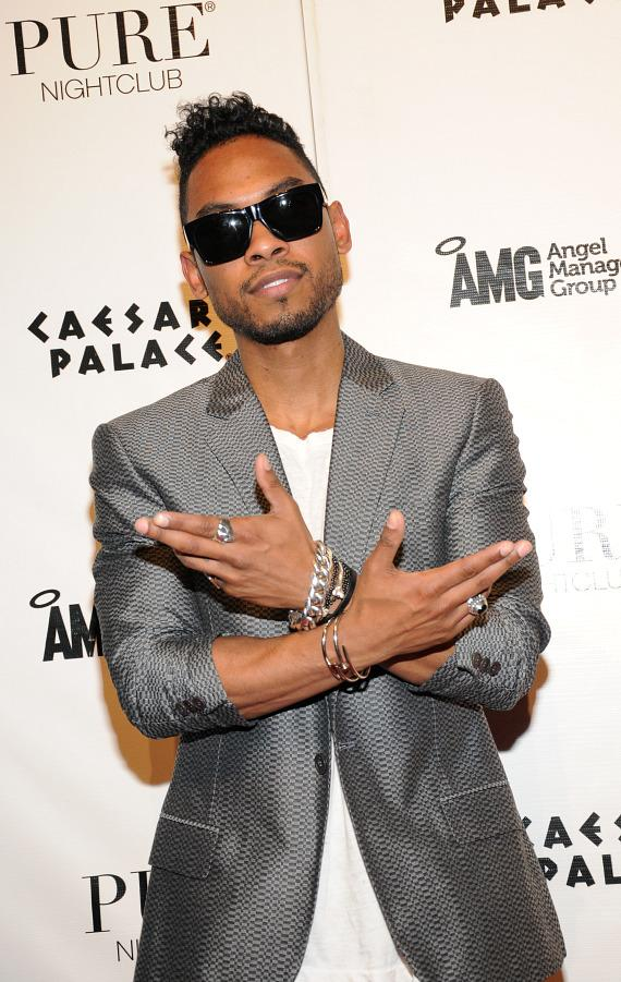 Miguel on red carpet at PURE Nightclub