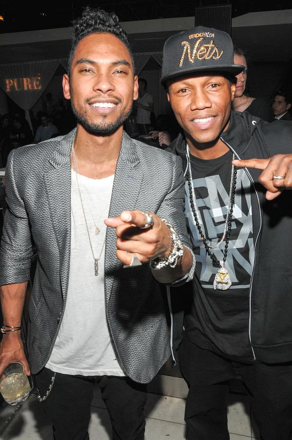 Miguel and Zab Judah at PURE Nightclub