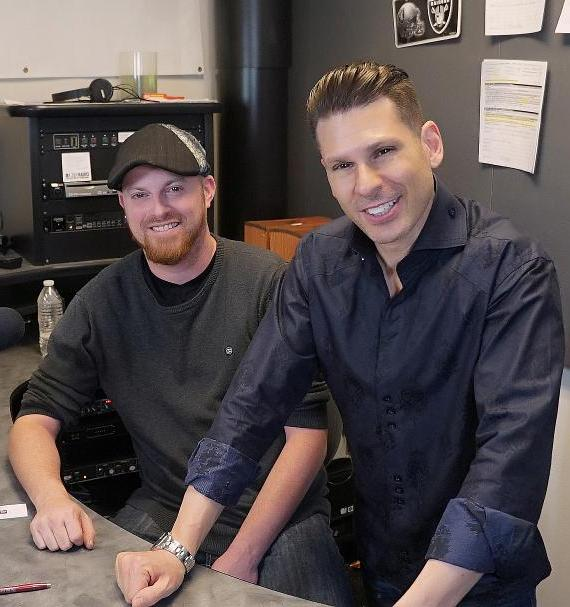 The Vegas Take, hosted by Brian Shapiro (l) and Mike Hammer (r) is broadcast at 2-4:00pm Saturdays on CBS Sports Radio 1140 and 107.5-3 FM HD3