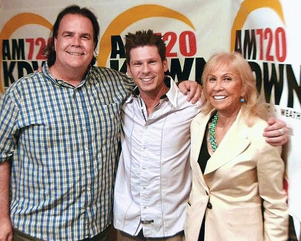 Celebrity Sighting: Magician Mike Hammer with 'Not Just Sports' Co-Hosts Lance Pry and Susan Spencer
