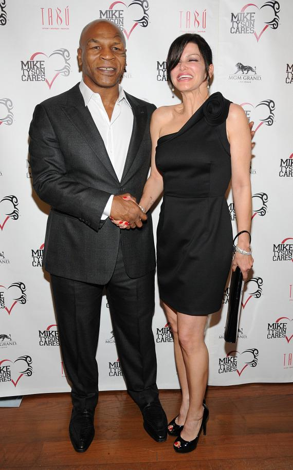 Mike Tyson and Carla Pellegrino