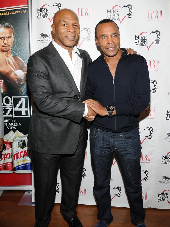 Mike Tyson and Sugar Ray Leonard