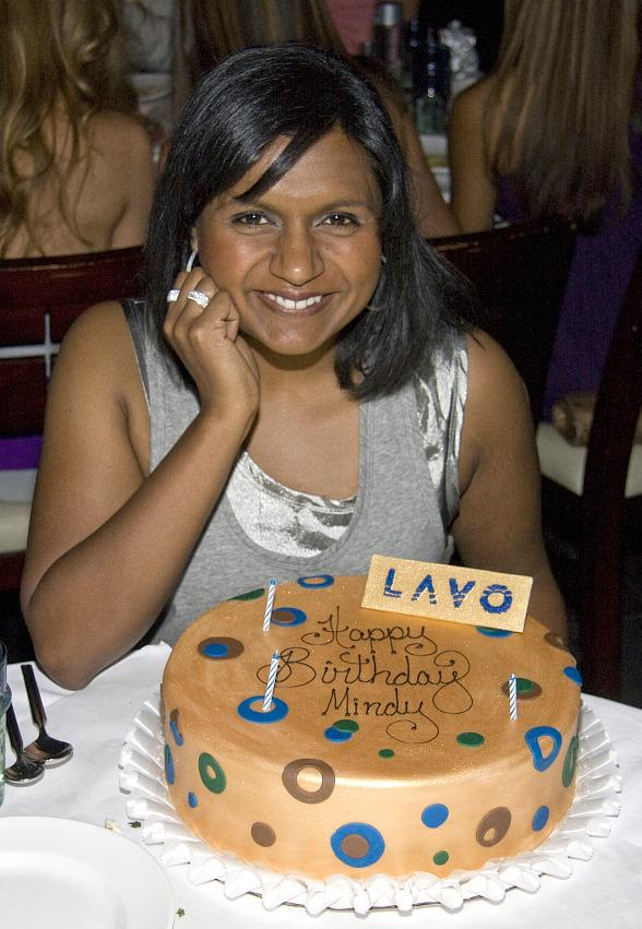 "Mindy Kaling of ""The Office"" Celebrates 30th Birthday at LAVO"