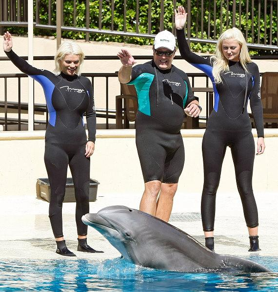 Megan Hauserman at Siegfried & Roy's Secret Garden and Dolphin Habitat at The Mirage