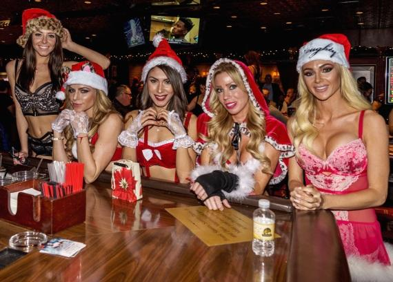 Miss Santa's Helper Contestants at Golden Gate Hotel Casino Las Vegas