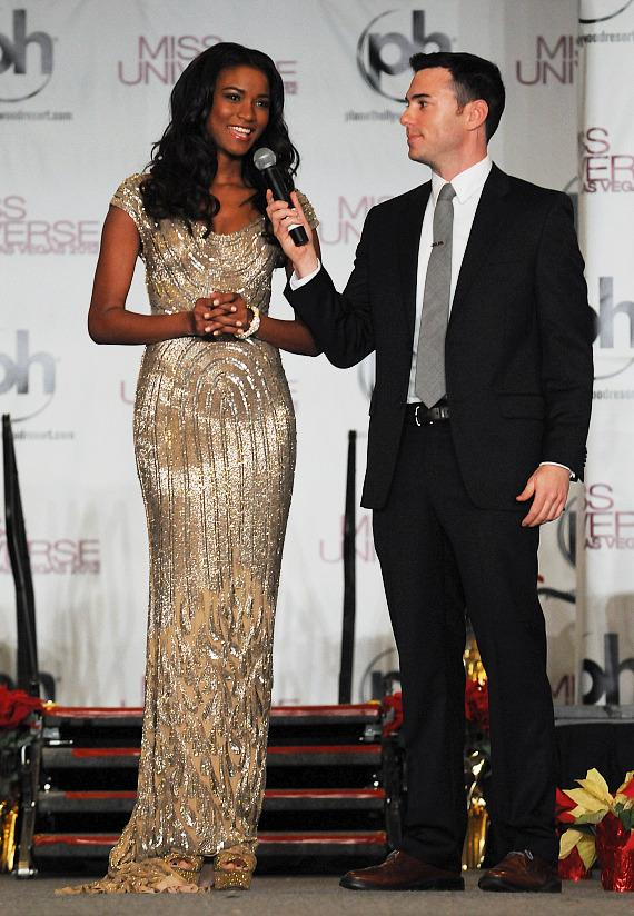 Miss Universe Leila Lopes and Nick Teplitz