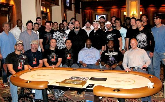 MLB Eddie Guaradao Poker Tournament: Picture of all players in The Venetian Poker Room