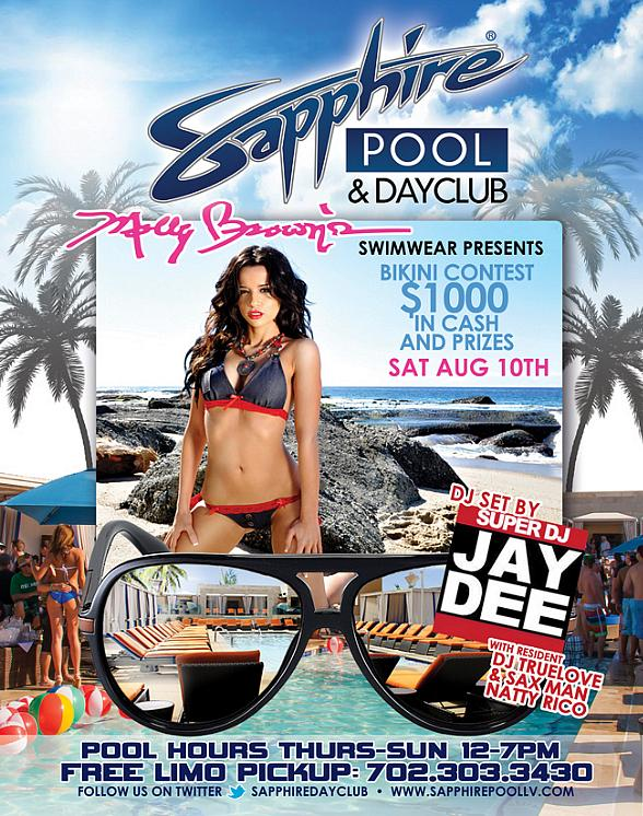 Sapphire to Host Molly Brown Bikini Contest with DJ Jay Dee, Sax Man Natty Rico, DJ Truelove and DJ Casanova Saturday, August 10