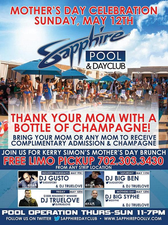 Celebrate Mother's Day at Sapphire Las Vegas