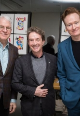 Celebrity Sighting: Steve Martin, Martin Short and Conan O'Brien at MR CHOW at Caesars Palace Las Vegas