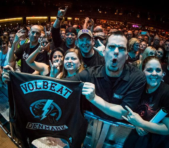 Volbeat fans at The Joint at Hard Rock Hotel & Casino in Las vegas