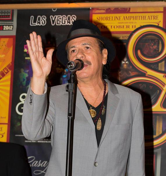 """Santana Celebrates 100,000th ticket sold to """"An Intimate Evening with Santana: Greatest Hits Live"""""""