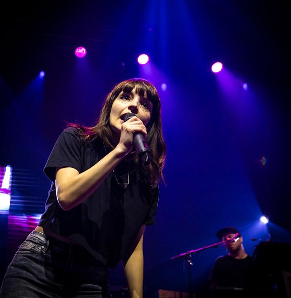 Chvrches perform at Brooklyn Bowl Las Vegas at The LINQ