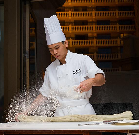 Guests were delighted by a private noodle show at MR CHOW on Thursday evening