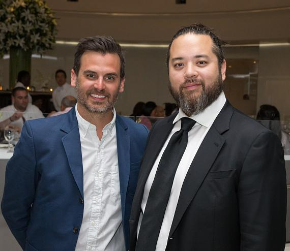 Bon Appetit Restaurant Editor Andrew Knowlton and Maximillian Chow at MR CHOW's Master Series dinner