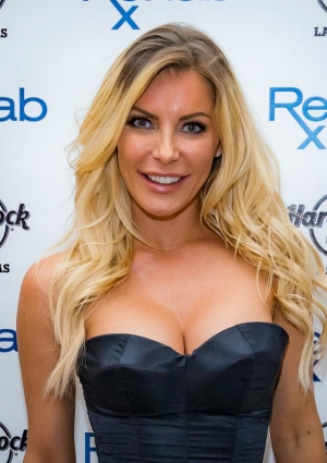 Crystal Hefner performs a DJ set at REHAB at Hard Rock Hotel & Casino in Las Vegas