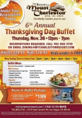 6th Annual Thanksgiving Buffet at the Scenic Resort at Mount Charleston
