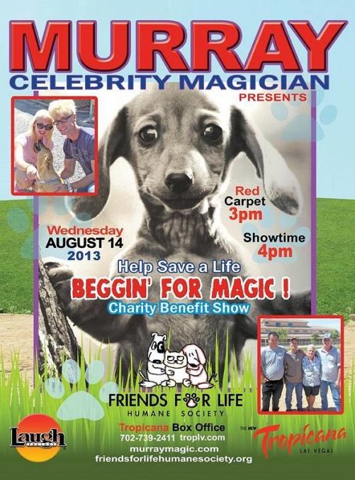 "Murray and Chloe to Host ""Beggin' For Magic"" Benefit Performance for 'Friends For Life Humane Society' August 14"