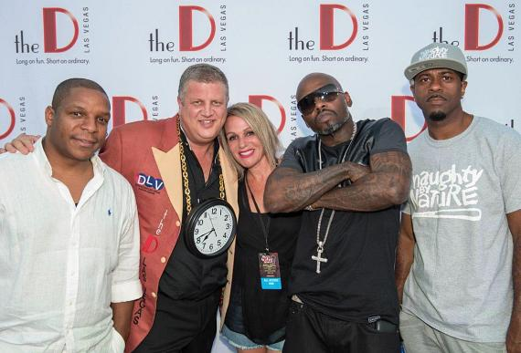 Naughty By Nature with Derek Stevens and wife Nicole Parthum at DLV Events Center in Las Vegas