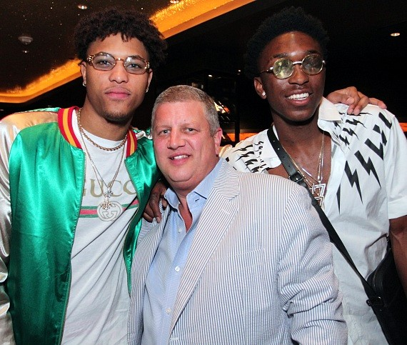 NBA Kelly Oubre, Derek Stevens and Stanley Johnson at Andiamo Las Vegas