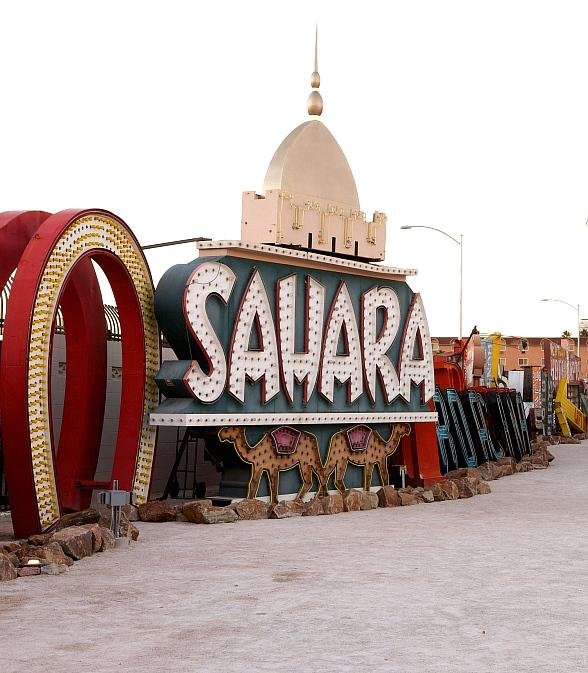 Sahara Hotel sign at Neon Museum