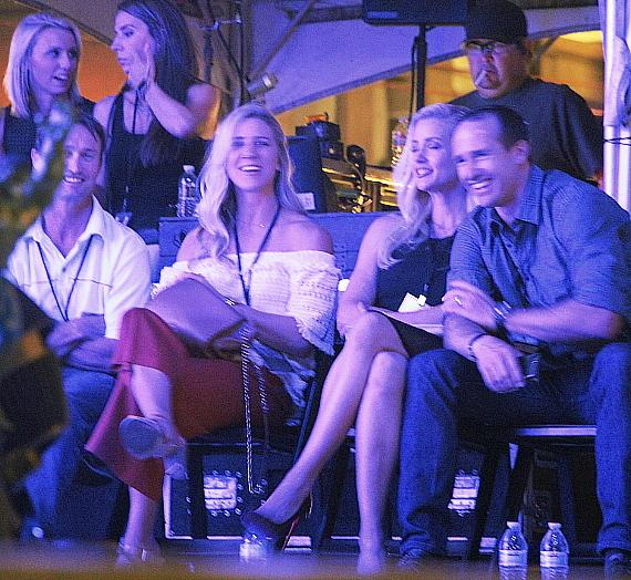"""NFL New Orleans Saints quarterback Drew Brees at """"Scars And Stripes"""" at Downtown Las Vegas Events Center"""