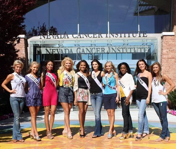 2009 Miss USA contestants at Nevada Cancer Institute