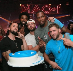 NBA Star DeAndre Jordan Celebrates Birthday at 1 OAK Las Vegas