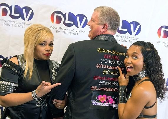 "Owner Derek Stevens and TLC Meet & Greet at Downtown Las Vegas Events Center for ""I Love The 90s"" concert"