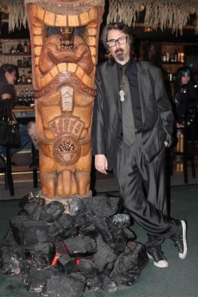 Tiki Room , along with owner P Moss and artist Dirk Vermin