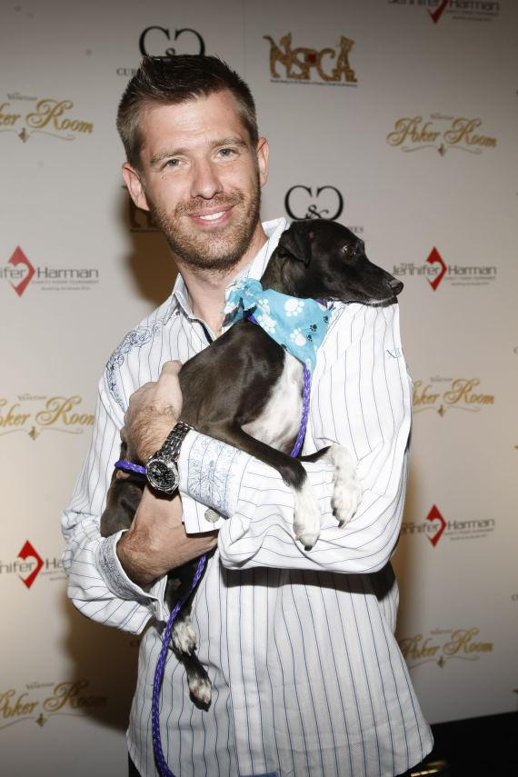 Layne Flack on the red carpet for the poker charity tournament benefiting the NSPCA at The Venetian