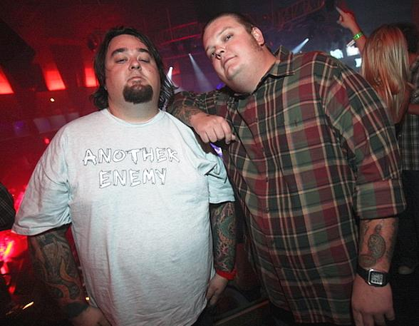 "Pawn Stars Corey ""Big Hoss"" Harrison and Austin ""Chumlee"" Russell at Rain Nightclub"