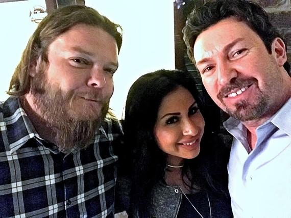 "Corey Harrison of ""Pawn Stars"" and fiance Kiki Nejo with the D Executive, Richard Wilk"