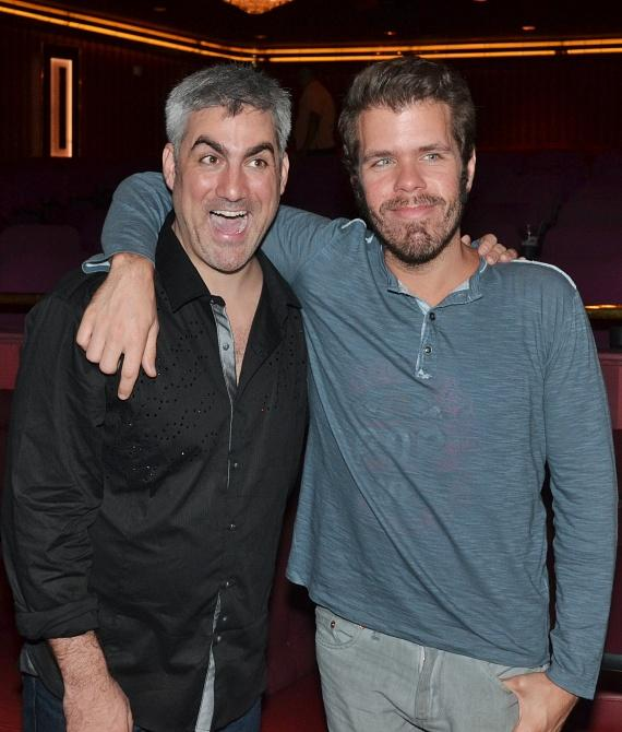 Taylor Hicks and Perez Hilton backstage at Jubilee! at Bally's Las Vegas
