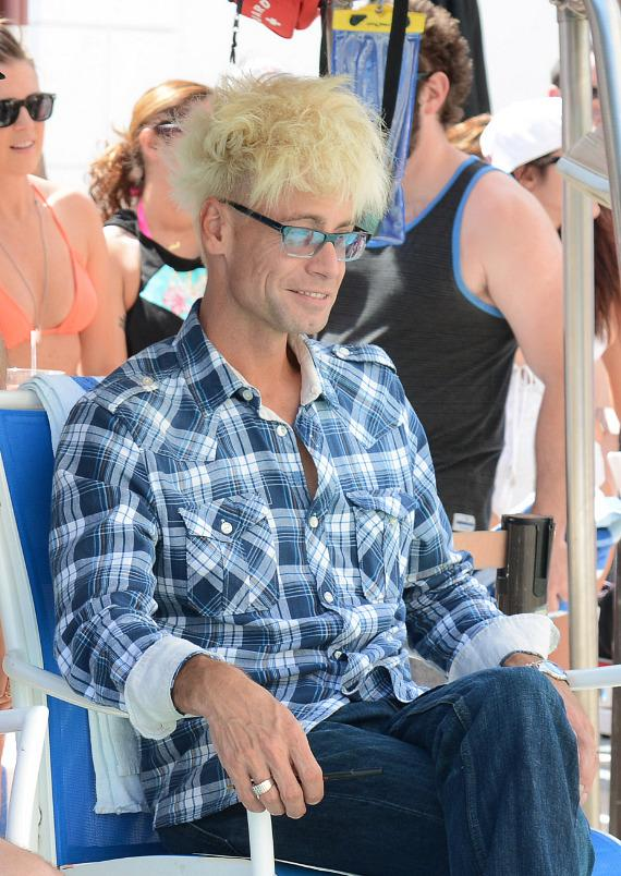 Murray SawChuck judges 5th Annual Pleasure Pool Bikini Contest at Planet Hollywood Resort & Casino