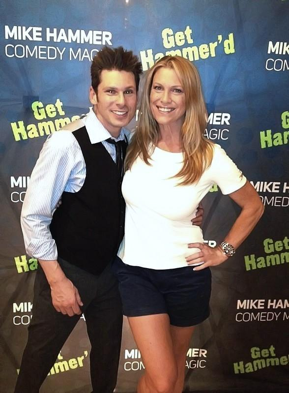 Celebrity Sighting: Magician Mike Hammer with Dina Mitchell of Tropical Smoothie Cafe