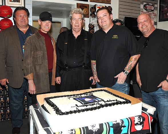 "Richard ""Old Man"" Harrison celebrated his birthday with Randy Travis (to his right), grandson Corey and son Rick Harrison"