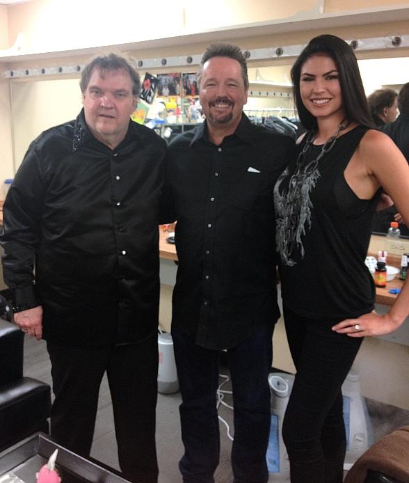 "Terry Fator and Taylor Makakoa at ""RockTellz & CockTails Presents Meat Loaf"" at Planet Hollywood"