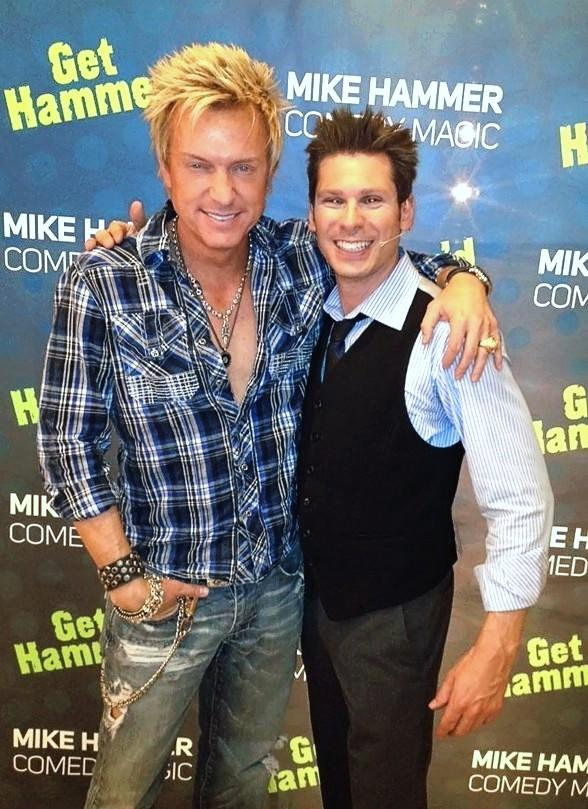 Celebrity Sighting: Singer Chris Phillips Visits Comedy Magician Mike Hammer at The Four Queens