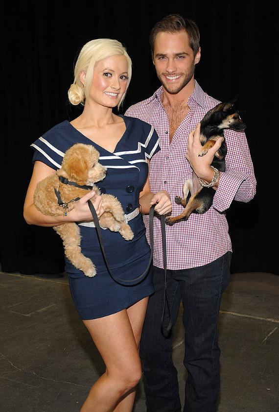 Holly Madison and Josh Strickland
