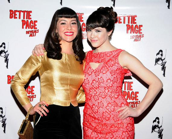 Bettie Page Lookalike Winner Roxy with Clair Sinclair